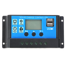 10A 20A 30A 12V/24V Solar Charge Controller Panel Regulator With Dual USB LCD Display PWM Battery Charging for Home Industrial pwm 10a 20a 30a solar charge controller 12v 24v auto with lcd display usb output solar cell panel regulator pv home solar system