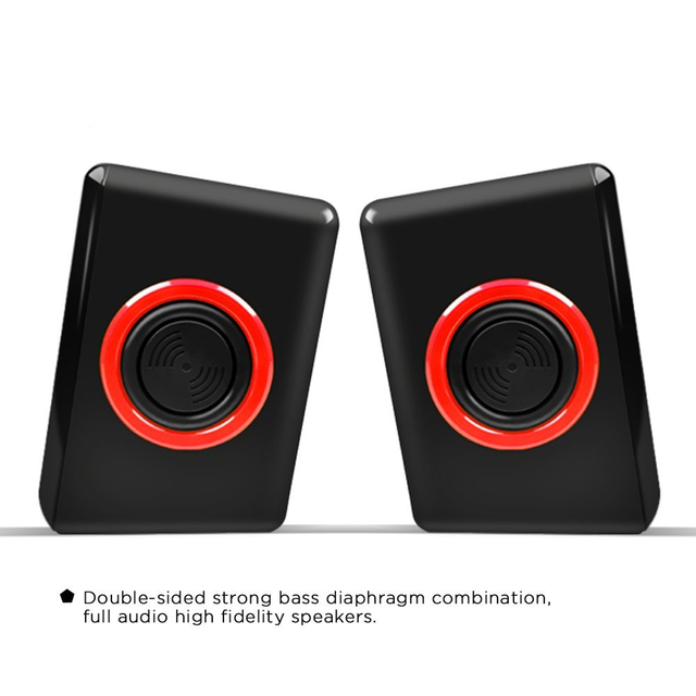 Surround Portable Computer Speakers With Stereo Bass Usb Wired Powered Multimedia Speaker Desktop For Pc Laptops 1