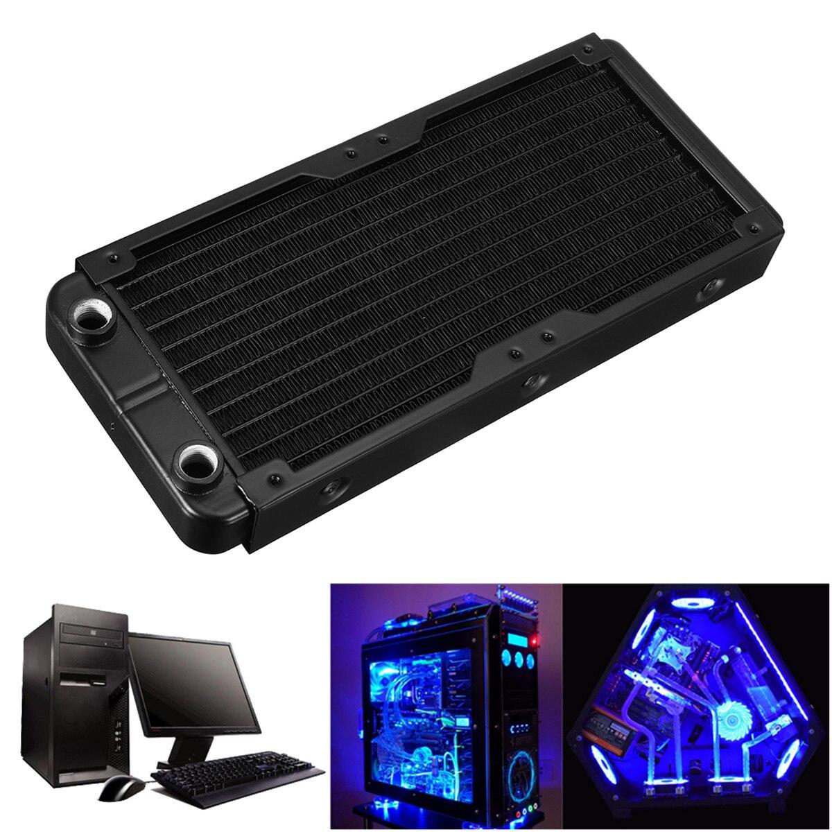 240mm 10 Tubes Aluminium Computer Kühler Wasser Kühlung Kühler Für CPU Kühlkörper Tauscher CPU Kühlkörper Für Laptop Desktop