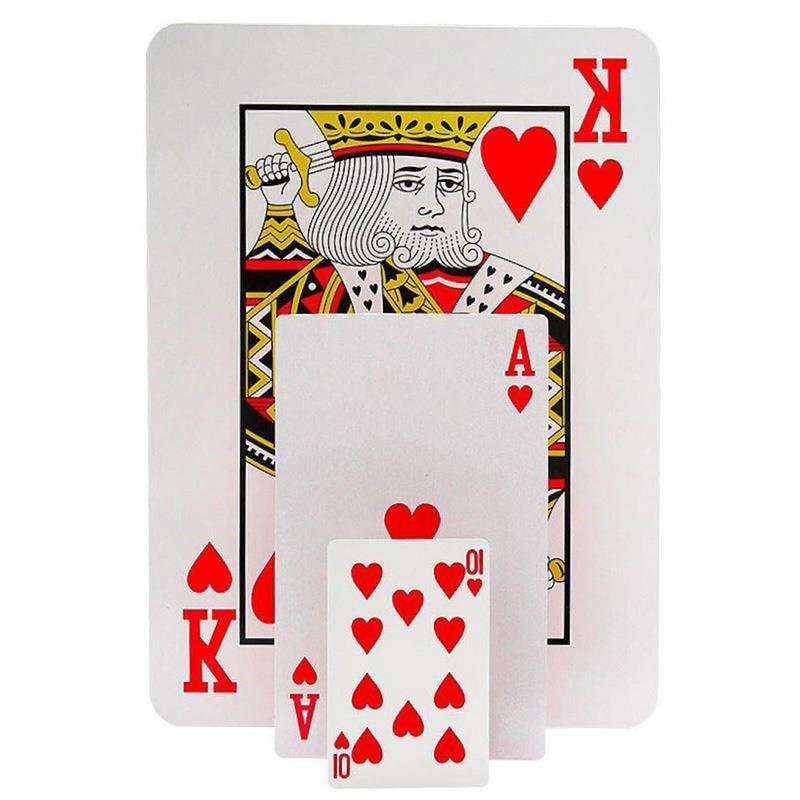 Jumbo Playing Cards Desk Huge Jumbo Card Poker Stage Magic Tricks Game Play