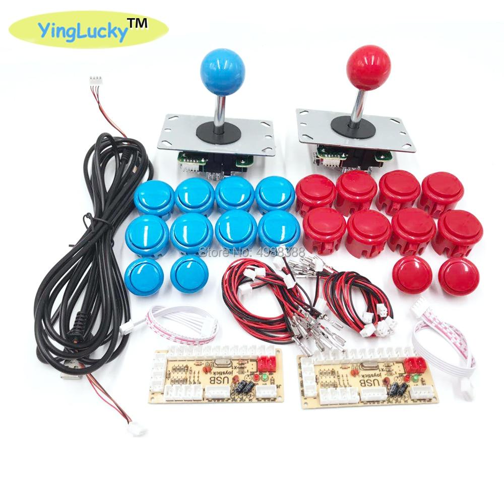 cheapest Arcade Joystick DIY Kit Zero Delay Arcade DIY Kit USB Encoder To PC  Arcade Sanwa Joystick and Push Buttons For Arcade Mame