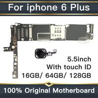 Factory unlocked motherboard for iphone 6 plus 16GB 64GB 128GB IOS logic board original Mainboard with touch ID for iphone 6Plus