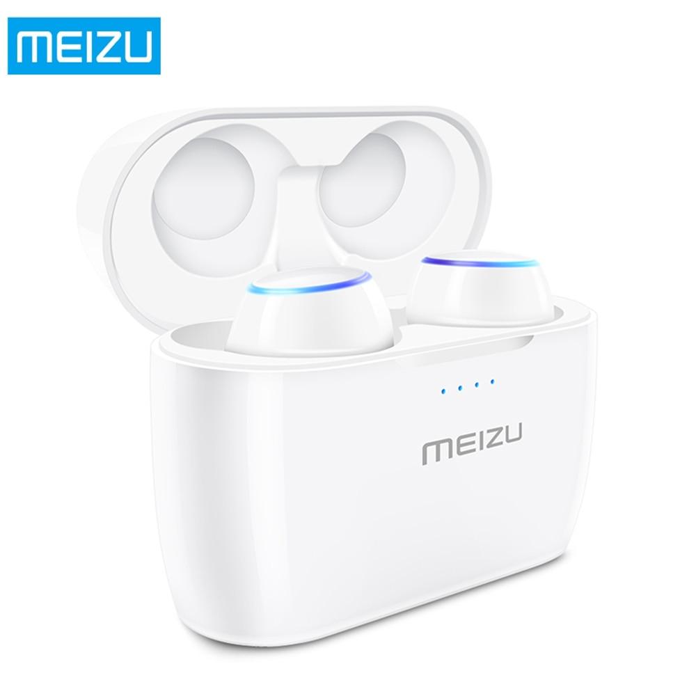 MEIZU POP TW50 Verdadeiro IPX5 TWS Bluetooth Fones de Ouvido Fones de Ouvido Sem Fio Esporte Fone De Ouvido À Prova D' Água Com Caso de Carregamento Sem Fio