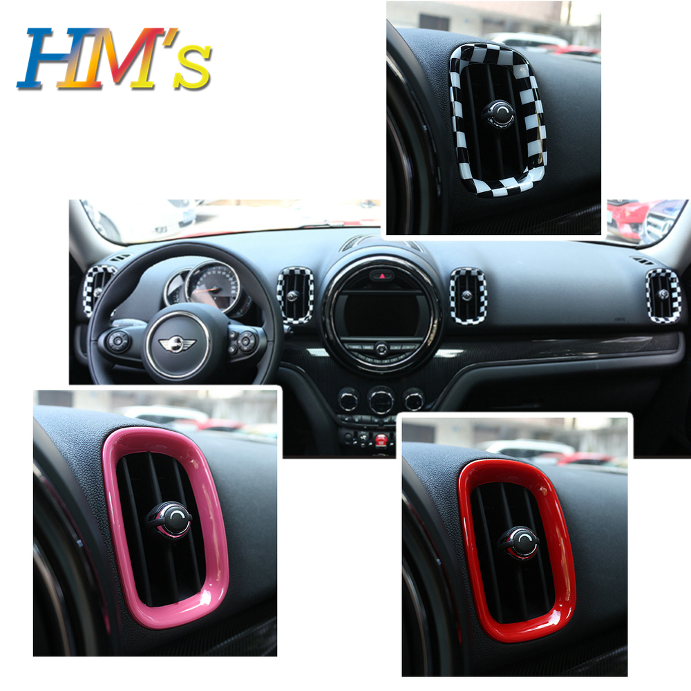 4 PCS For Mini Countryman F60 Accessories Air Outlet Decoration Ring Sticker Kit For Mini F60