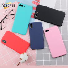 Get more info on the KISSCASE Plain Mobile Phone Case For iPhone XS X Soft Fashion Case For iPhone 8 7 6 6s Plus 5 5s SE Phone Fundas Covers Coque