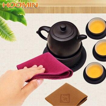HOOMIN مناديل للمائدة منشفة شاي الشاي الشاي الكتان أدوات أدوات أدوات المطبخ-في مناديل شاي من المنزل والحديقة على