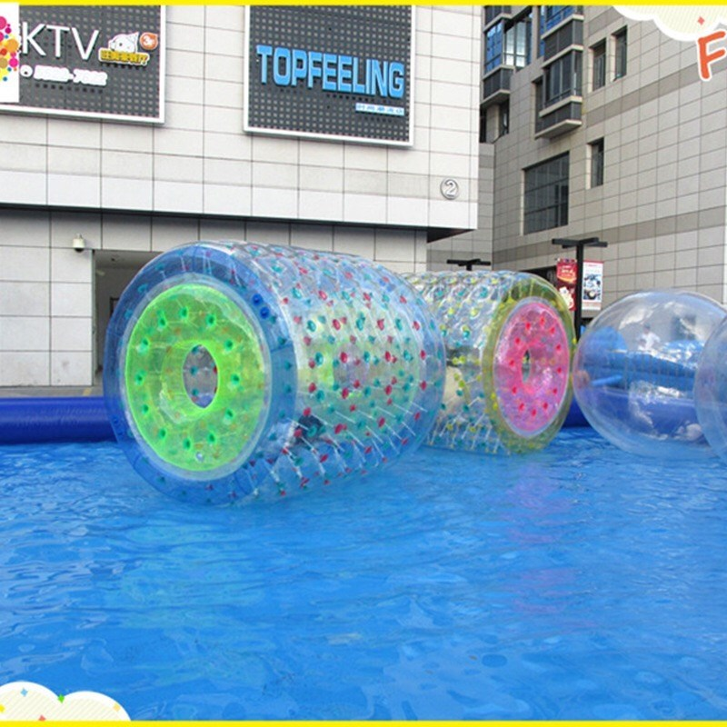 Free Shipping 1.0mm TPU Inflatable Water Roller Ball Roller Wheel For Adults Kids Walk On Water Ball Aqua Rolling Ball CE Blower