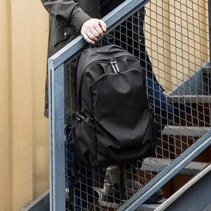 Image 2 - Plecak podróżny Hk plecak Oxford męski materiał Escolar Mochila marka jakości torba na laptopa czarna spersonalizowana moda torba