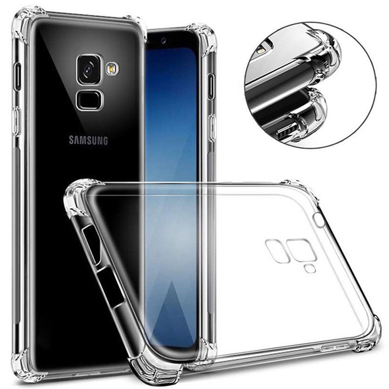 Clear Anti-Knock Silicon Case For Samsung Galaxy A9s A6s S10 A6 A8 S9 S8 Plus Note 8 9 J8 J6 J4 J7 2018 A3 A5 A7 J5 J7 S7 S6