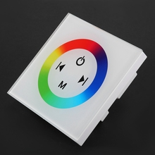 Flexible Controller Wall Mounted Colorful RGB LED Touch Panel Controller Dimmer Switch for LED Strip Light led strip rgb mk ws05al ultrathin design easy control oem wall mounted led touch light switch cabinet light dimmer switch to adjust light