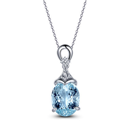Bohemian Jewelry Blue Crystal Rhinestone Necklaces & Pendant Beautiful Necklace For Women Statement Jewelry Amethyst Ruby Female