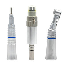 Dental Low Speed Handpiece Kit Air Turbine Straight Contra Angle Air Motor Polishing Tool 4 Holes Available Dental Lab Equipment цена 2017