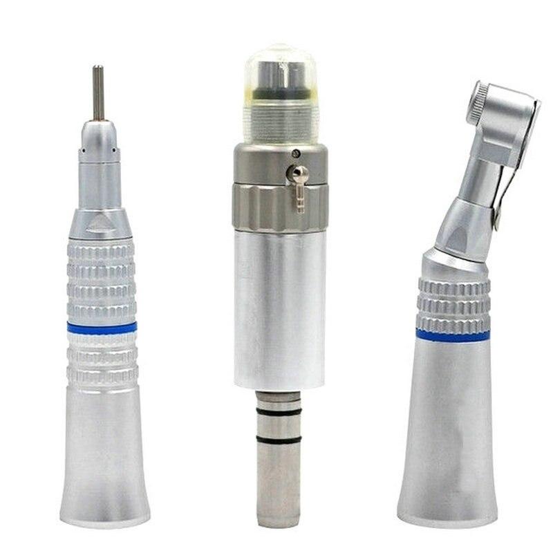 Kit Dental de Baixa Velocidade Handpiece Turbina De Ar Em Linha Reta Contra Ângulo Ar 4 Furos Disponíveis Equipamentos de Laboratório Dental Ferramenta De Polimento Do Motor
