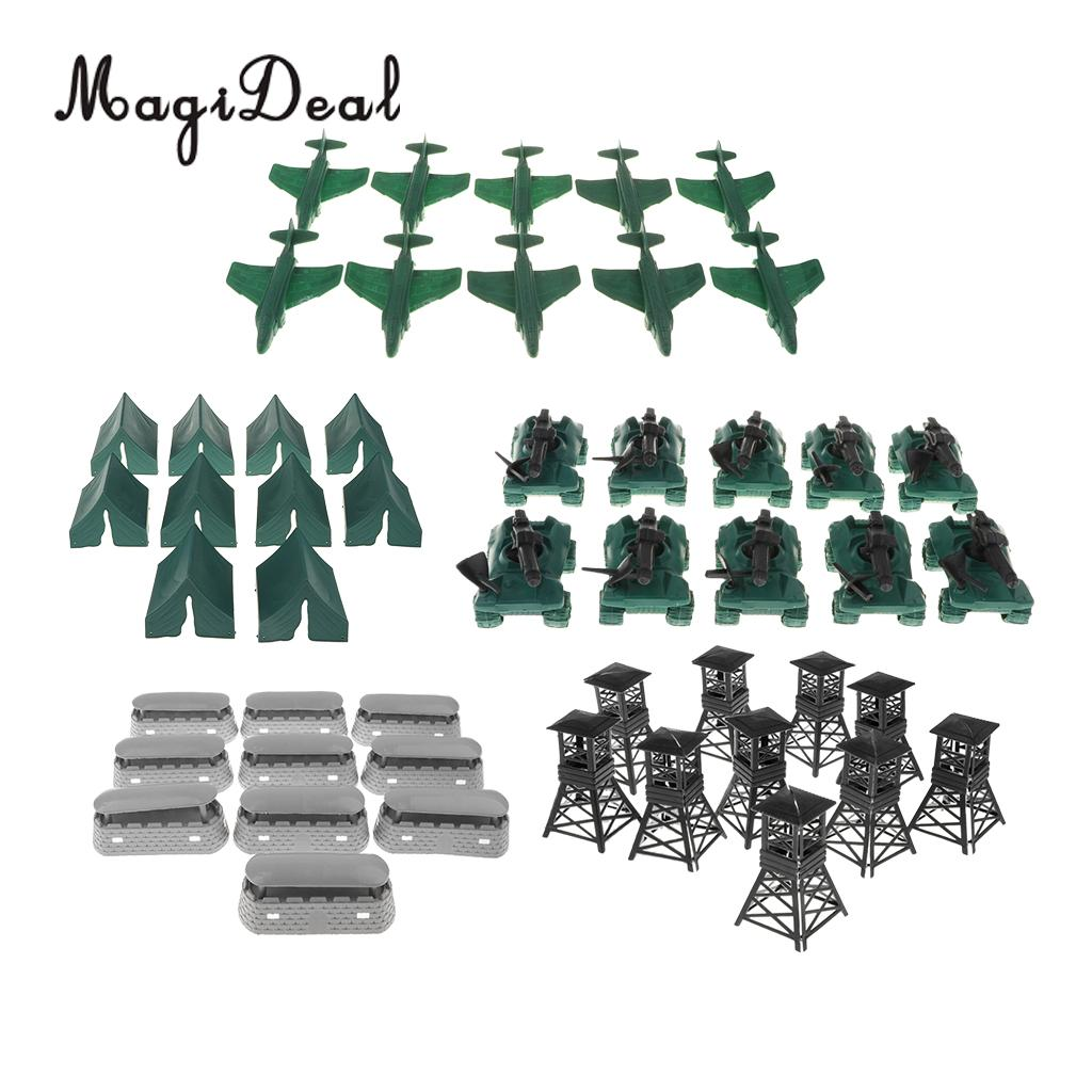 Toys & Hobbies Strong-Willed 50pcs Military Blockhouse Model Toy Soldiers Army Men Accessories Tent Armored Car Fighter Plane Pavilion Whistle Bunkers