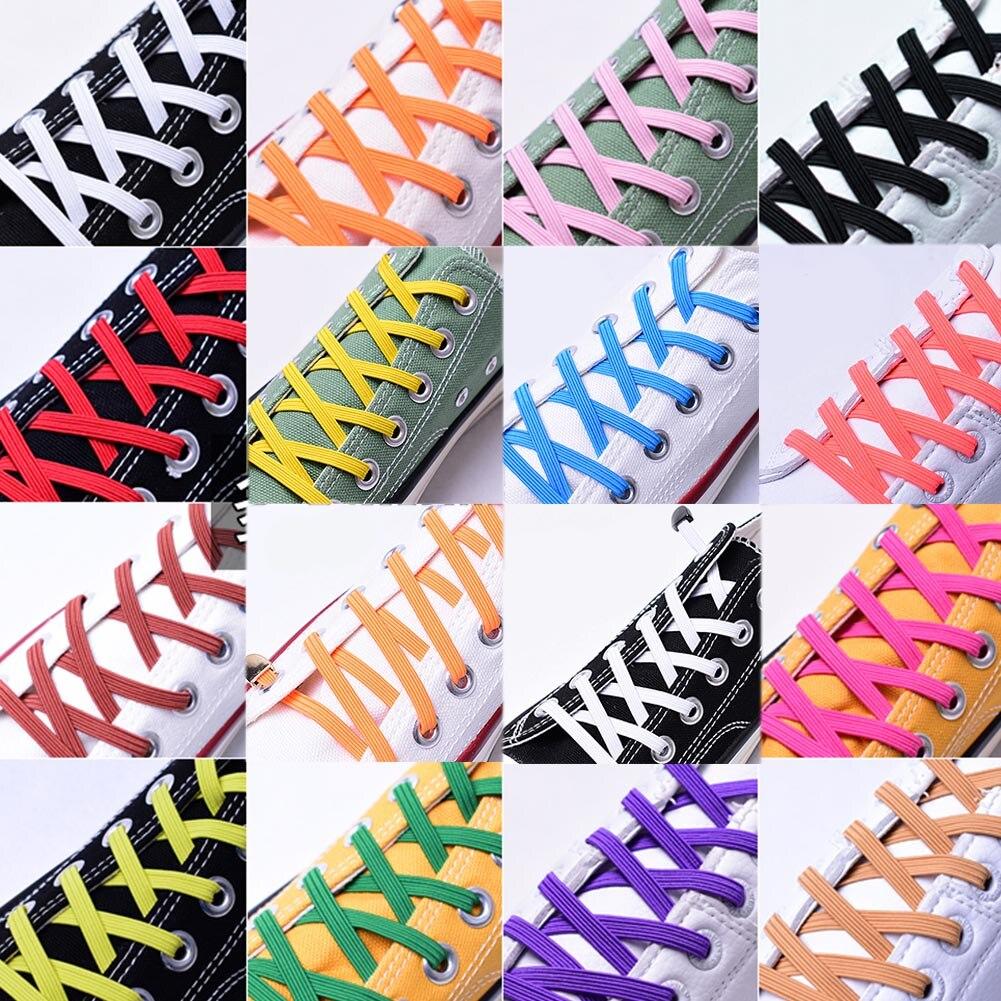 1 Paar 100 Cm Elastische Gummi Schuh Spitze Stretching Locking Keine Krawatte Faule Schnell Schnürsenkel Flache Sneaker Bootlaces Sicher Schnürsenkel