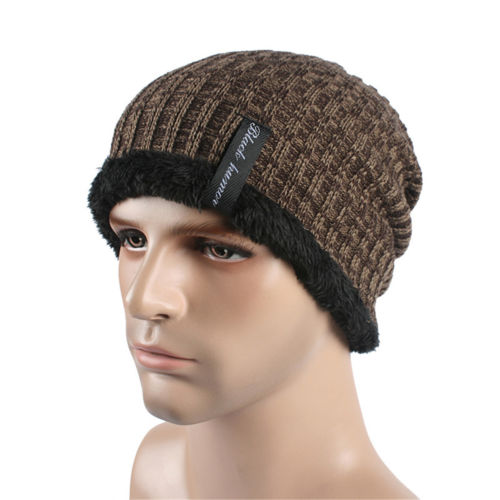 ... New Fashion Mens Beanies knitted Cap Winter Hat For Women Knit Baggy  Cap Warm Add Velvet ... ddffd74538f