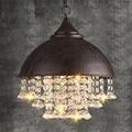 Канделябр в американском ретро стиле  винтажная люстра с кристаллами  светодиодные светильники для гостиной  столовой  Подвесная лампа  осв...