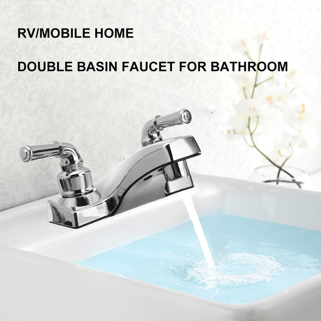 Terrific Us 10 01 31 Off Xueqin Pp Bathroom Basin Sink Faucet Double Handle Basin Faucet Double Hole Cold And Hot Mixer Tap Deck Mount For Bathroom In Basin Download Free Architecture Designs Scobabritishbridgeorg