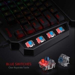 Image 3 - ريدراجون K585 ديتي بيد واحدة RGB الميكانيكية الألعاب لوحة المفاتيح 42 مفاتيح الأزرق التبديل LED اليد اليسرى لوحة مفاتيح صغيرة لعبة المحمول