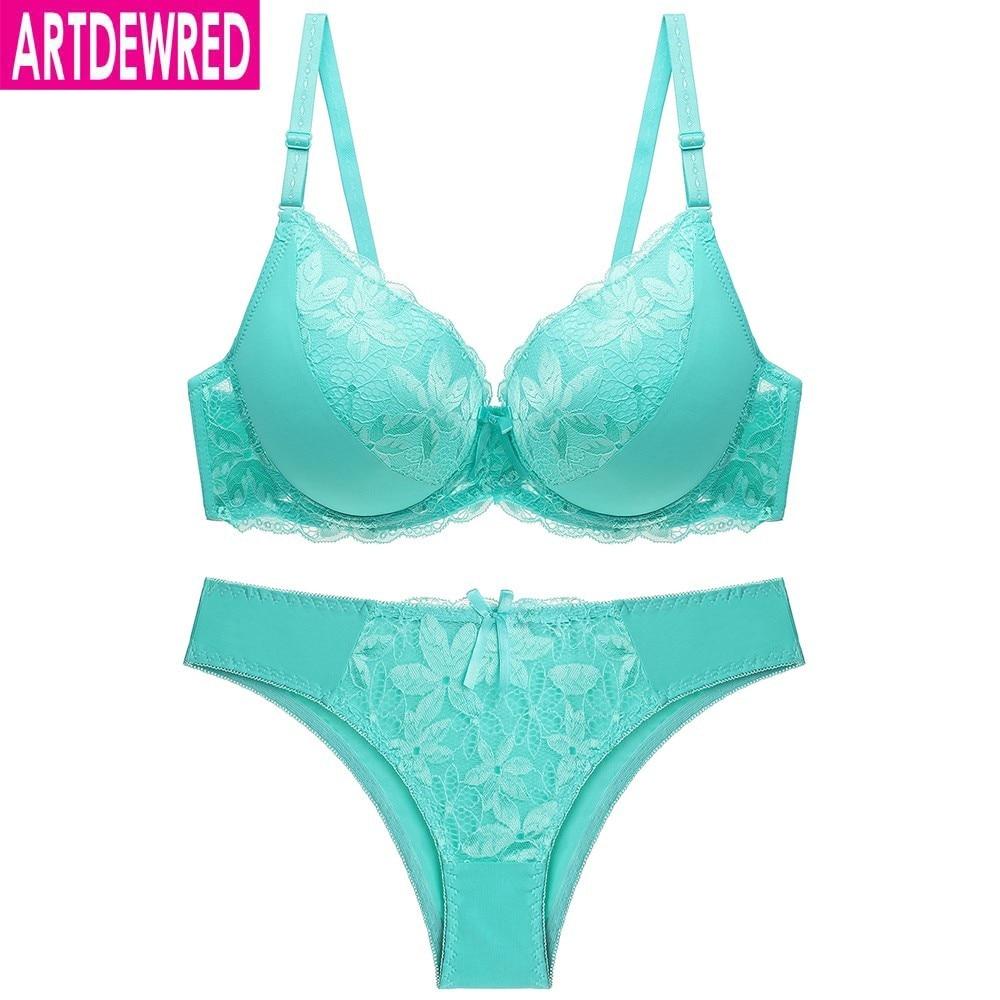 Women Sexy Lace Big Size Bra Set Plus Size Push Up Underwear Set 7 Color Push Up Bra Brief Set C D Cup Brassiere Panty Set Bra & Brief Sets    - AliExpress