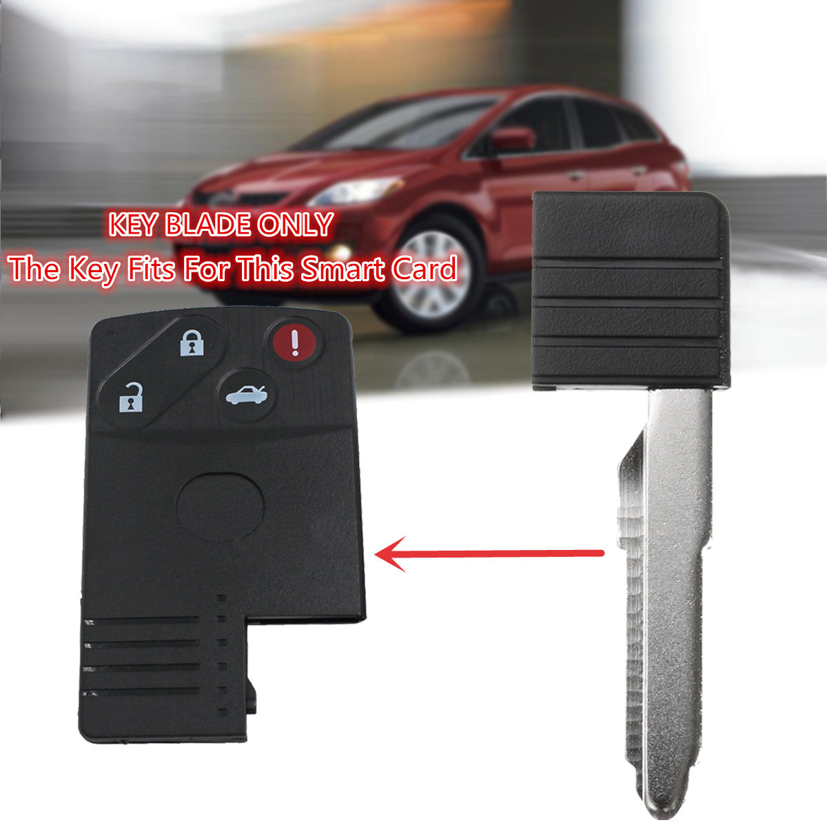 Car Replacement Uncut Insert Emergency Key Blade Blank For Mazda Smart Card Key CX-7 CX-9 RX-8