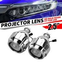 2pcs 2.5inch Car Styling Motor LHD Bi Xenon Mini Bixenon for HID Projector Lens Shroud Headlight H1