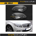 1 Pair of Plastic Headligt Lens Cover Fit for Mercedes Benz W204 C180 C200 C260 2011-2013 Headlight Headlamp Lens Shell Cover