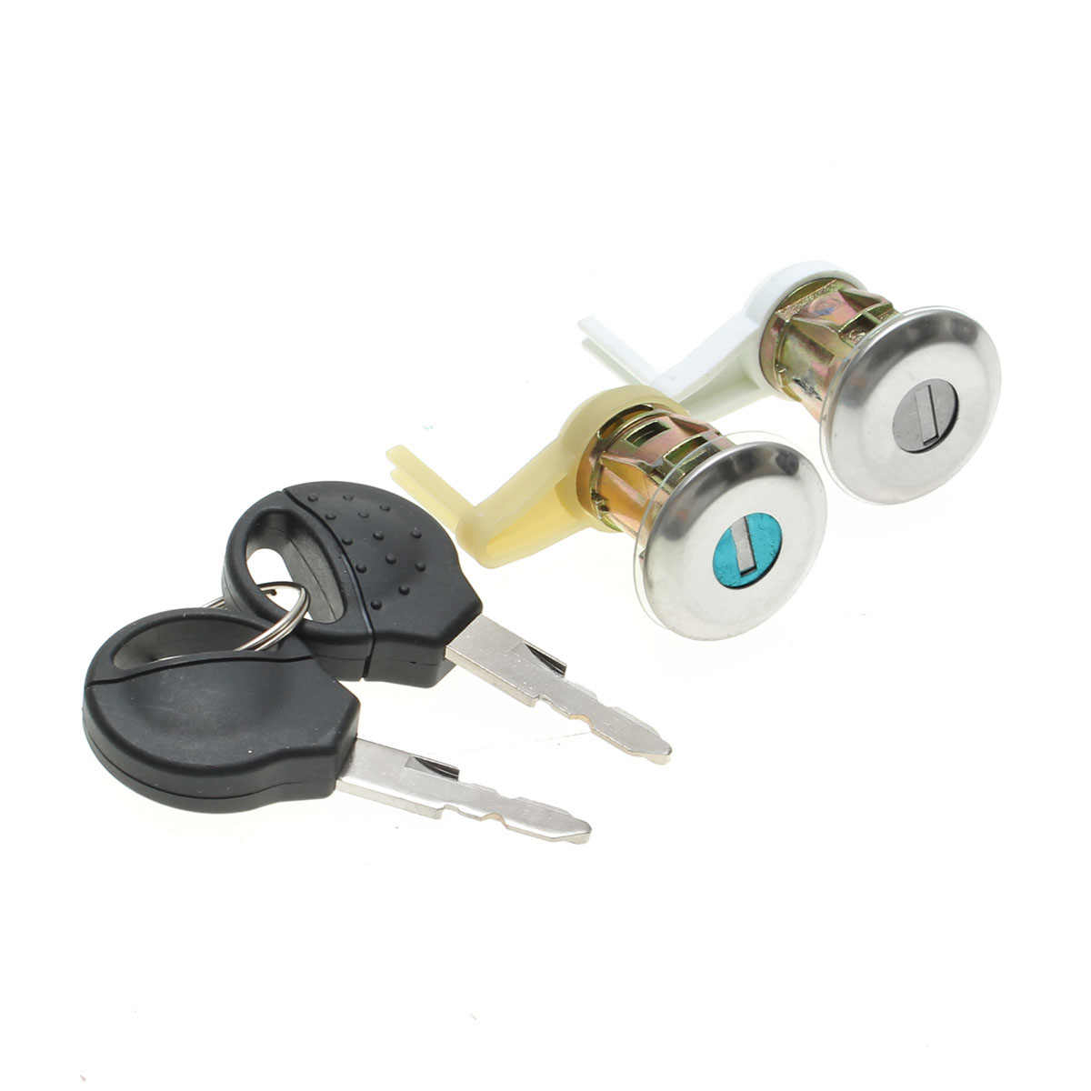 2 Pcs Lockcraft Metal Door Lock With 2 Keys Front&Left&Right For 1998-2009 For PEUGEOT 206 All Models