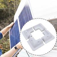 4pcs/set Solar Panel Stand White Corner Mounting Bracket For RV Marine Flat Roof Camping Van And Caravan