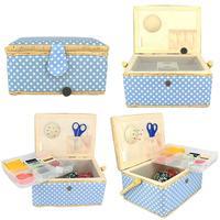 Medium Rainbow Needle Box Receiving Box Home Fabric Decoration Festival Gifts Needle Basket Overturn Makeup Storage Box