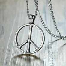 Винтажное ожерелье с символикой мира для мужчин в стиле ретро