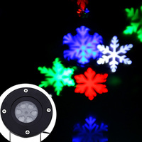 LED Snowflake Projector Star Background Lawn Garden Light Waterproof Snow Stage Background Projection Laser Lamp Pattern ON SALE