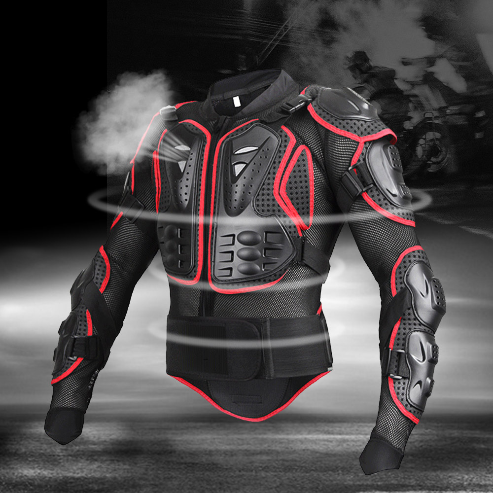 Vestes moto rcycle Protection complète du corps noir/rouge armure tortue moto vestes hommes moto rcycle gear moto cross vêtements GP vélo tissu