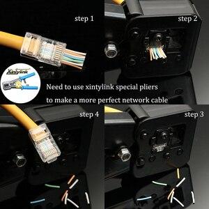 Image 5 - كابل إيثرنت rg من xintylink 50U EZ rj45 موصل cat6 ذهبي اللون مقبس cat5e utp 8P8C cat 6 شبكة بدون رادع وحدات cat5