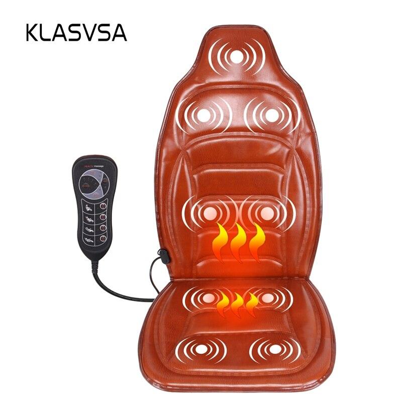 KLASVSA Elettrico Riscaldamento Portatile Vibratore Indietro Massaggiatore Sedia Auto Home Office Lombare Alleviare Il Dolore Al Collo di Massaggio Cuscino Pad