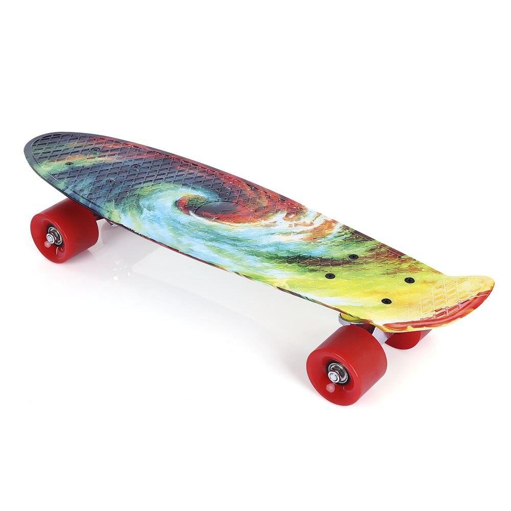Quatre roues 22 pouces Mini Cruiser Skateboard rue longue planche à roulettes Sports de plein air PP dérive planche plate-forme pour adultes enfants - 2