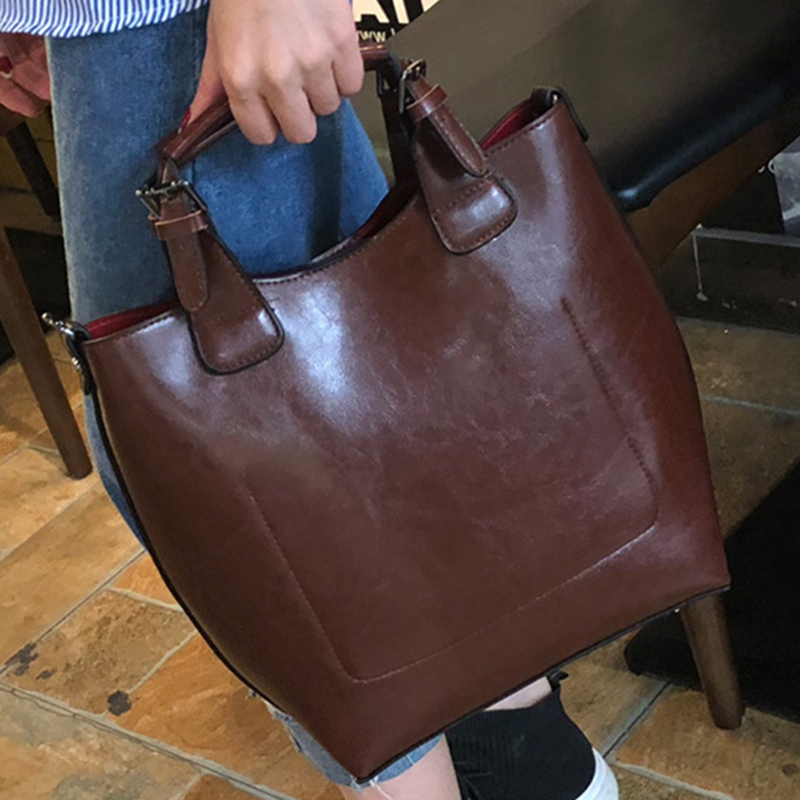 High Quality Genuine Leather Messenger Handbag Crossbody Shoulder Shopping Bags Simple Fashion Natural Skin Women Tote