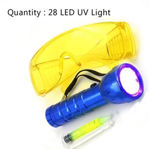 Samochód R134A R12 klimatyzacja A/C System detektor wycieku zestaw 28 LED latarka ochronna UV barwnik zestaw narzędzi naprawa samochodów