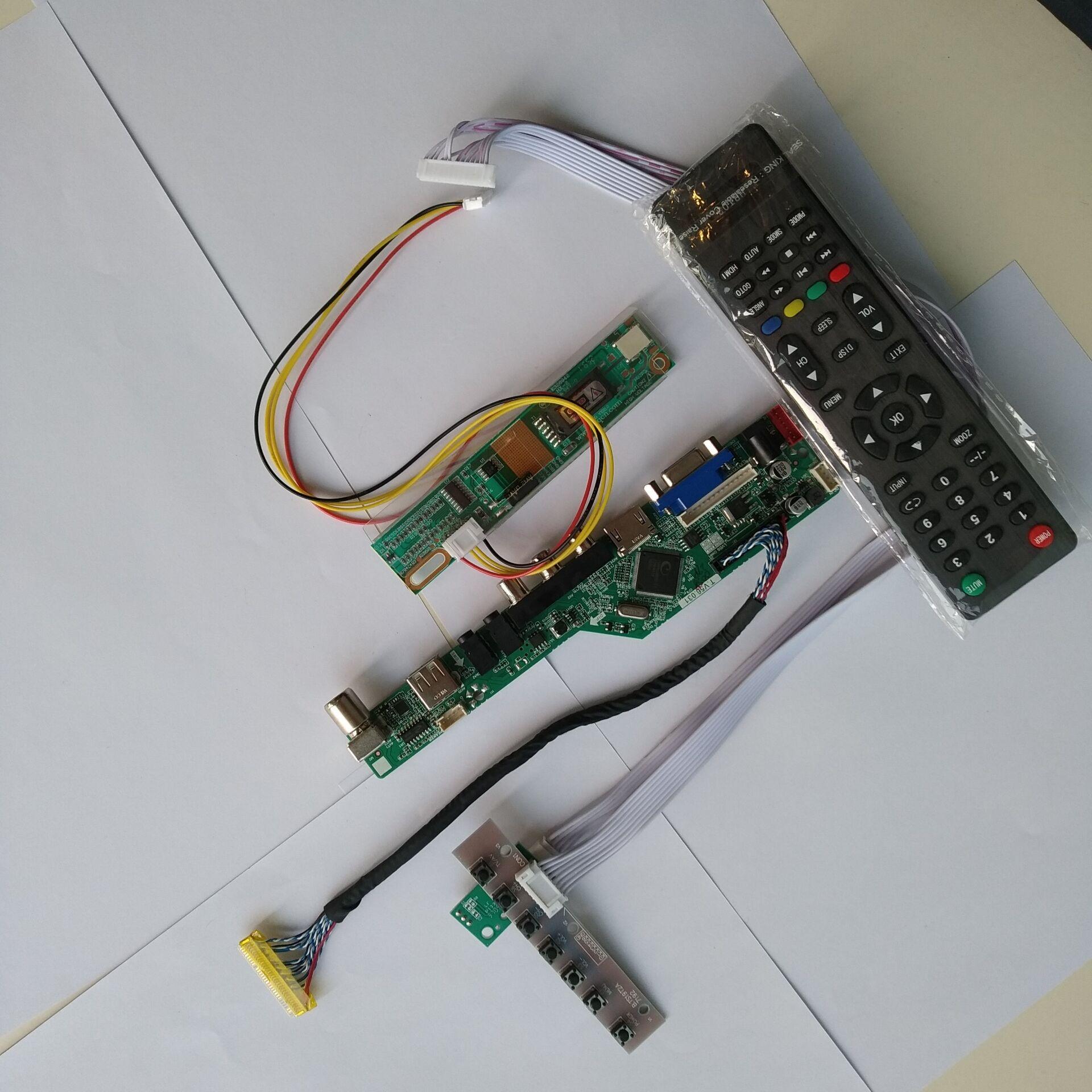 TV HDMI VGA AV USB AUDIO LCD LED 1 CCFL Lamps Controller Board Kit DIY For N154I2-L02 1280X800 15.4