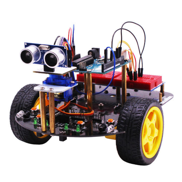 2-in-1 Super Starter Smart Intelligent Robot Car with Tutorial Programmable Stem Toys for Arduino with for  R3 Mainboard