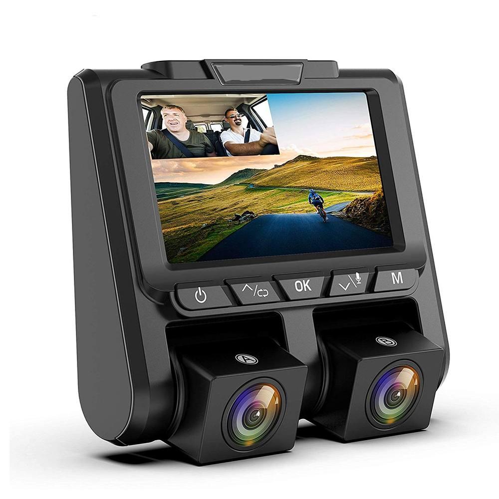 3 pouces IPS 30 fps caméra de voiture Full HD 1080 P Vidéo enregistreur de conduite À Double Lentille caméra de voiture dvr de voiture