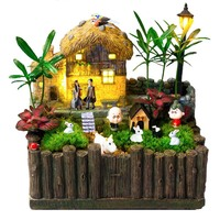 1 Pc Cute Mini Resin House Miniature House Fairy Garden Micro Landscape Home Garden Decoration Resin Crafts(Random types)