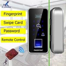 2000 ให้คะแนน Smart Lock ล็อคลายนิ้วมือรีโมทคอนโทรลลายนิ้วมือประตูล็อค cerradura inteligente ID Card Reader สำหรับสำนักงาน