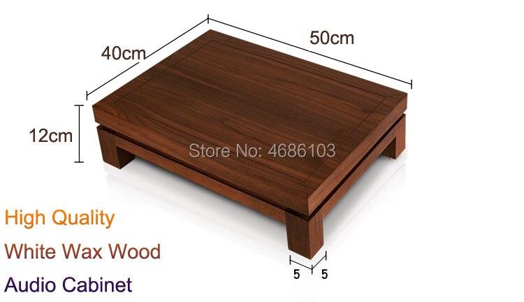 High-end White Wax Wood HIFI Stand Media Component Shelf Audio Cabinet Single Audio Shelf Rack Home Rack TV Cabinet