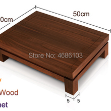 High-end White Wax Wood HIFI Stand Media Component Shelf Aud