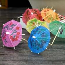 140 шт одноразовые фруктовые бумажные Коктейльные красочные зонтики цветы украшения для коктейлей топперы для вечерние