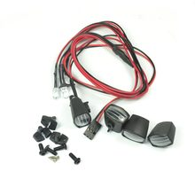 RC Car 4pcs Square Lamp LED Light Fog light Cup for TAMIYA,AXIAL,RC4WD Crawler Car(China)