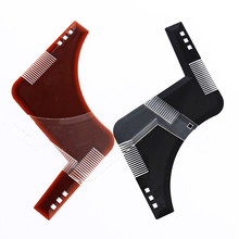 QC 1Pcs Beard Shaping Comb Styling Template Beard Comb for Hair Beard Trimmer Trim Template Men Repair Beard Salon Styling Tool 10pcs lot hair clippers beard trimmer comb attachment replacement for philips qc5130 05 15 20 25 35 3 21mm gift