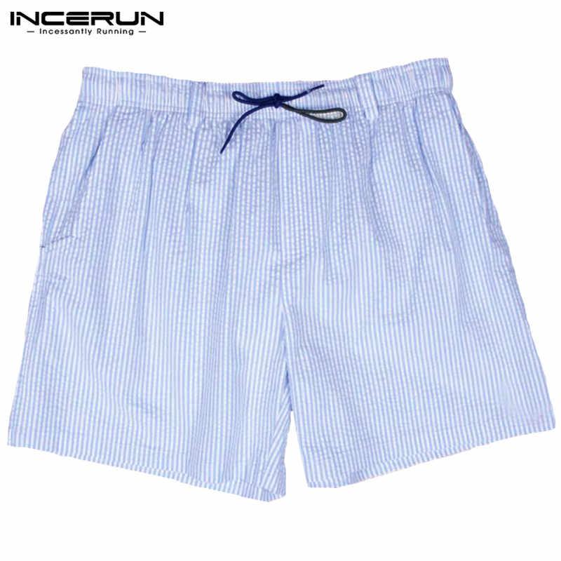 Fashion Striped Shorts Mini Beach Boardshorts Casual Shorts Vacation Men Bottom Sweatpants Elastic Waist Trunks Joggers Hombre