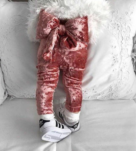 2019 1-5 TToddler Kid Baby Girl Velvet Bowknot Legging Bottoms   Pants   Trousers Clothes